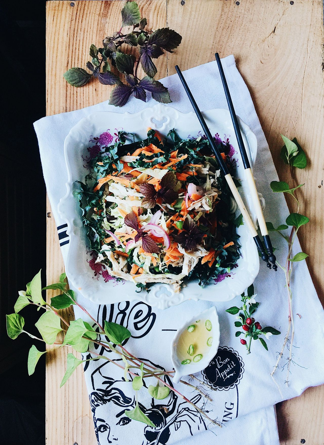 Supergreens Vietnamese Coleslaw with Roast Chicken