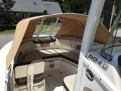 Have put a new bow cover on the boat for your comfort.....for next year!