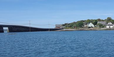 The Cribstone Bridge and Prince's Point on Orrs Island