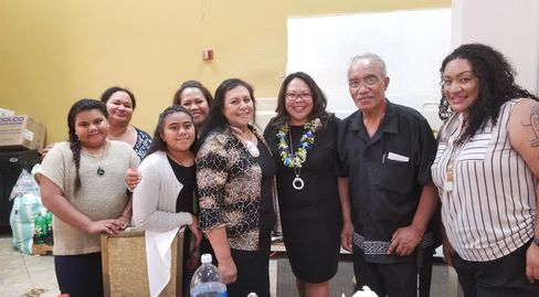 TOFA Board members with California Governor appointed Secretary, Mona Pascal.