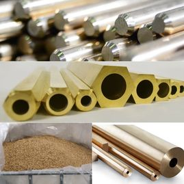 Brass Rod, Hexagonal Brass Bar, Brass Scrap, Hollow Brass Bar