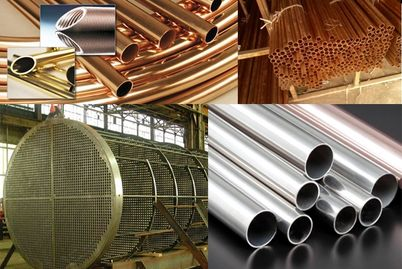 Condenser Tubing, C443, C706, Finned Tube, U-Tube, Heat Exchanger, Admiralty, Copper Nickel, C687