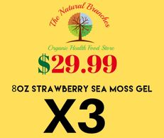 Variety 3 pack Strawberry Sea Moss Gel