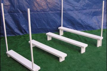 USDAA approved long jump hurdles for dog agility K9 obstacle course equipment