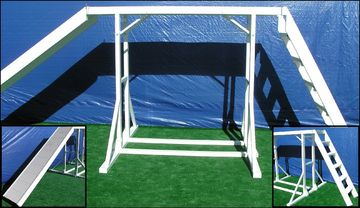 FEMA specific catwalk with ladder ramp k9 obstacle search and rescue dog training equipment