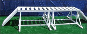 NAPWDA approved trestle walk with ramps for K9 agility police working dogs