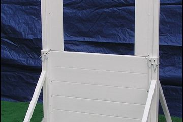 Adjustable height dog training window k9 obstacle