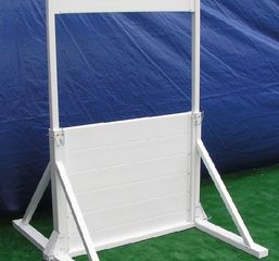 "Hurdle is 36"" tall, adjustable to 30"" and 24"". Window height is also adjustable. DOD / MWD approved"