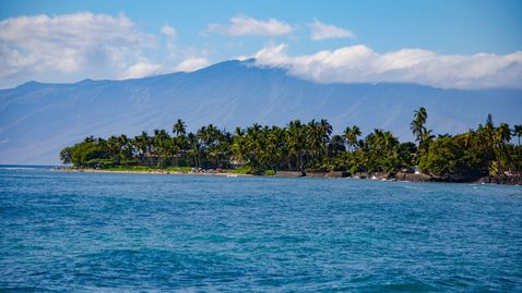 The North end of Lahaina with Molokai in the background