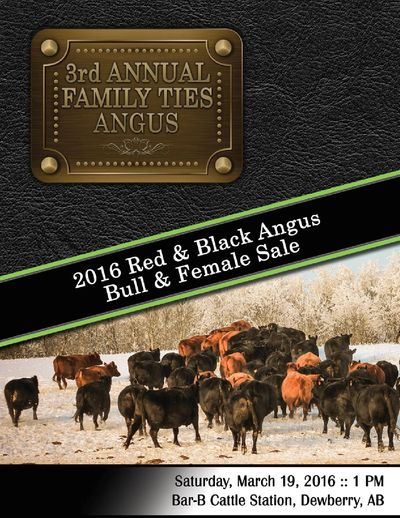 2016 Family Ties Angus 3rd Annual Bull & Heifer Sale