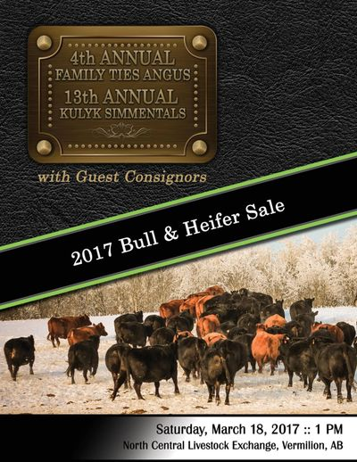 2017 Family Ties Angus 4th Annual Bull & Heifer Sale