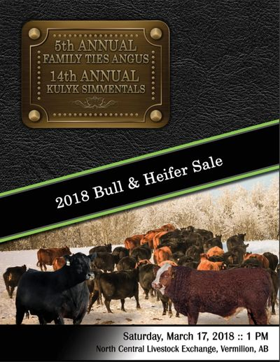 2018 Family Ties Angus 5th Annual Bull & Heifer Sale