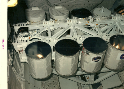 *Official NASA Press Photo of GAS Payloads attached to the GAS bridge.
