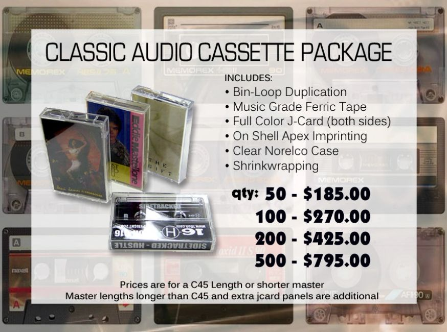 Audio Cassette Tape Package