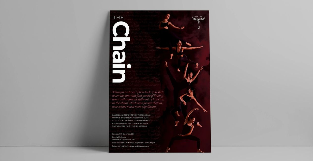 dance company performance art youth ballet contemporary lyrical Sydney photography poster
