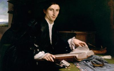 Lorenzo Lotto, Portrait of a Young Man in His study (1530)