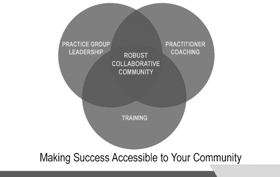 Practice group leadership, practitioner coaching, training, collaborative divorce