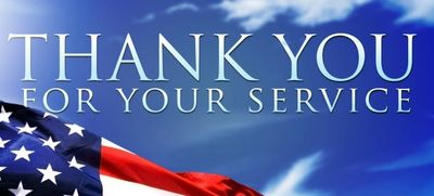 Appreciation for our Military, Veterans, First Responders and our Teachers!