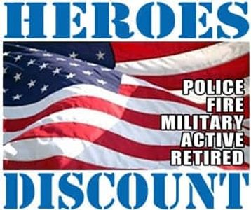 Military/Veteran and First Responder discounts available.