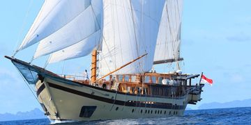 Lamima is the world's largest wooden sailing yacht at 214 feet.