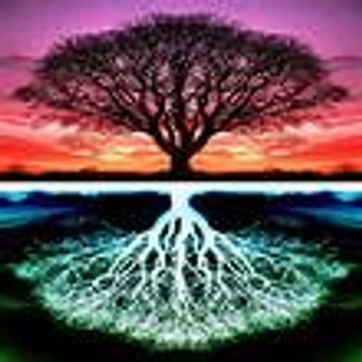 "Image of trees representing the ""Inconscient"" and the the decoding of dreams"