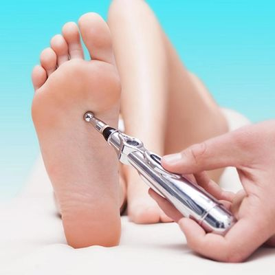 Enhance the effects of progressive stretch therapy with electric accupuncture pen therapy.