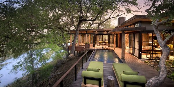 Private guest suite at andBeyond Tengile River Lodge, Sabi Sands Game Reserve