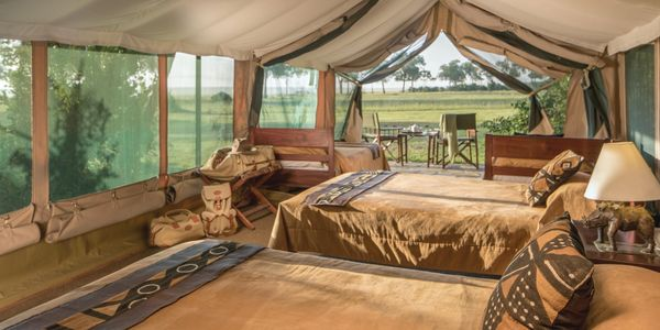 Governers' Camp family tent, Masai Mara National Reserve, Kenya