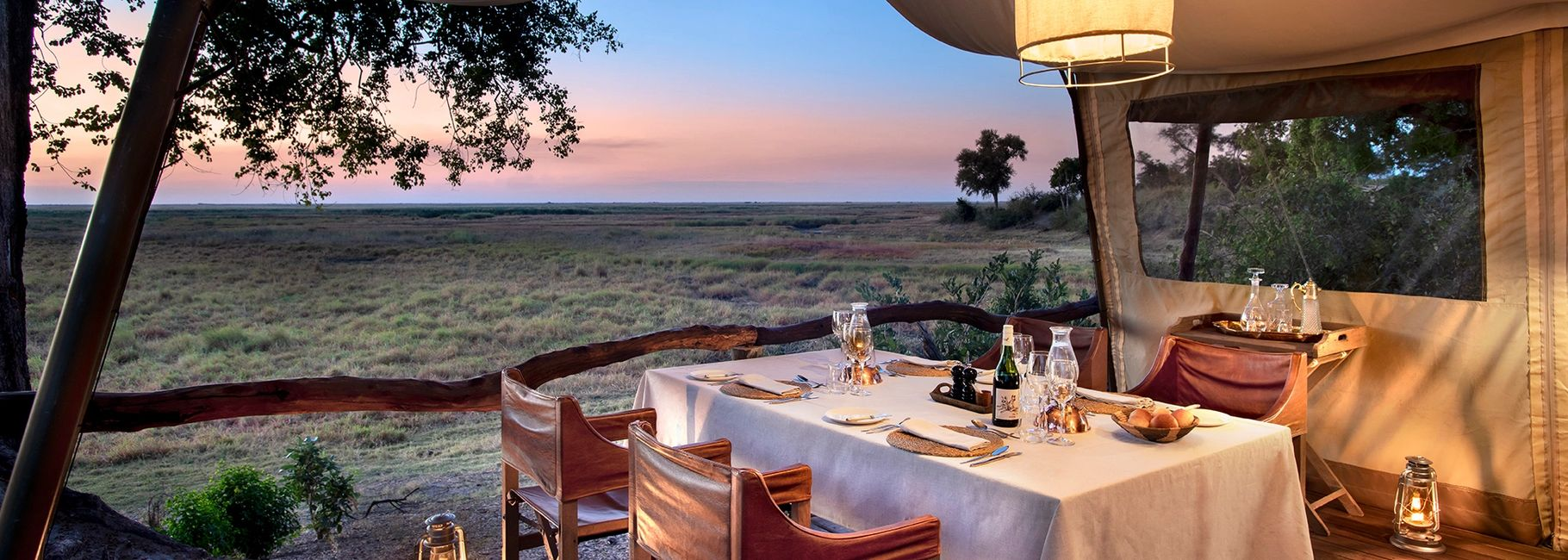 Linyanti Expeditions tented camp, Chobe Enclave, Botswana, Africa
