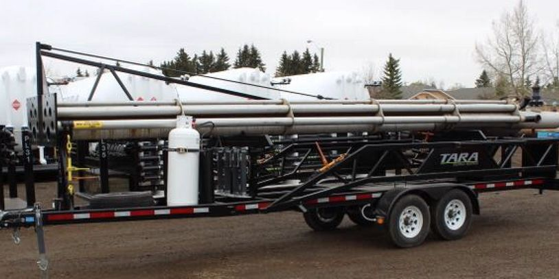 TARA Energy Services, TARA Oilfield Services, Flowback, Well Testing, PORTABLE FLARE STACKS - 60 ft.