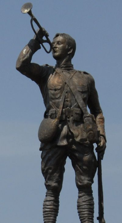 Bugle Boy Statue Garden of Honor