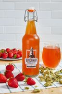 Organic kombucha with locally sourced ingredients