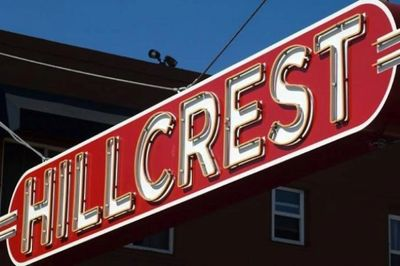 Photo of the Hillcrest sign. Credit: San Diego Free Press (RIP)