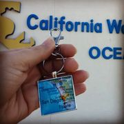 key chain at california welcome center in oceanside