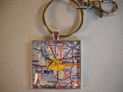 Dallas Fort Worth Key Chain from Texas Treats