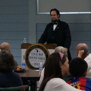 Mr. Dennis Boggs as our sixteenth President, Abraham Lincoln.