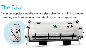 Most Popular Mild Hyperbaric Chamber AirMed Hyperbarics Summit to Sea Vertical Hyperbaric Chamber