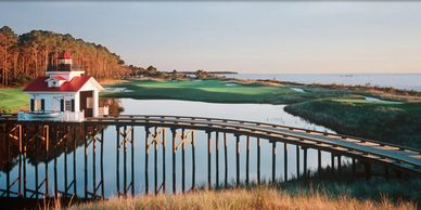 Bay creek golf course in Cape Charles Virginia on the Eastern Shore.