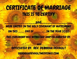 sunflower (ex 4), keepsake certificates of marriage available in my FB store beginning Nov 15th 2020