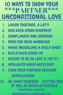 INFOGRAPHIC 10 WAYS TO SHOW YOUR PARTNER UNCONDITIONAL LOVE