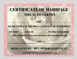white rose keepsake certificates of marriage (ex. 2), available in my FB store beginning Nov 15th 20