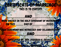 NM orange/blue floral (ex 8), keepsake certificates of marriage available in my FB store beginning N
