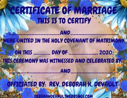 NM blue floral (ex 7), keepsake certificates of marriage available in my FB store beginning Nov 15th