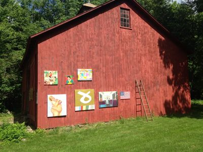 Plein Air Exhibition in Litchfield, CT, Garret Neuf's first home