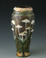 Stephanie Young Forest Series vases.  Art nouveau explorations of forest flora and fauna.