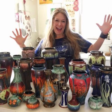 Stephanie Young Calmwater Designs Art Nouveau Wheel Thrown Pottery & Cermaics Artist Locations