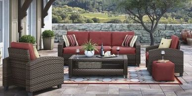 outdoor furniture, Ashley, mattress, group, living room, seating, sofa, chair