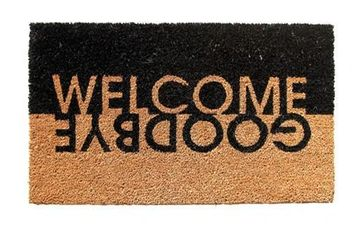 PVC backed coir mats with attractive  designs or messages. Standard Size: 40X60cm; 45X75cm; 60X90cm.
