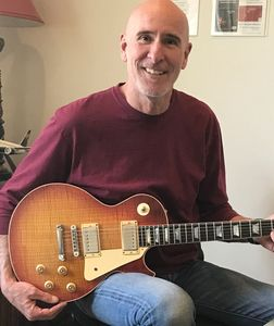 "Mark with his ""59 spec'd Les Paul."