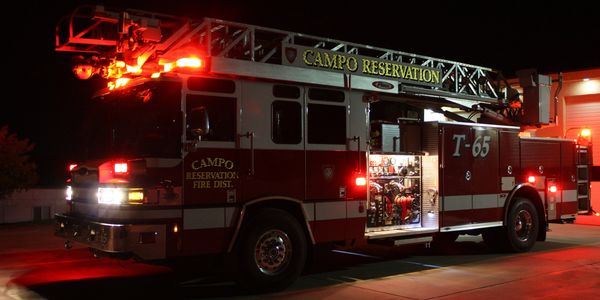 The Campo Reservation Fire Protection District serves the Campo, La Posta, Manzanita, and Ewiiaapaay